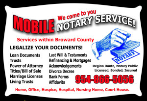 Broward County Mobile Notary 954-866-5056