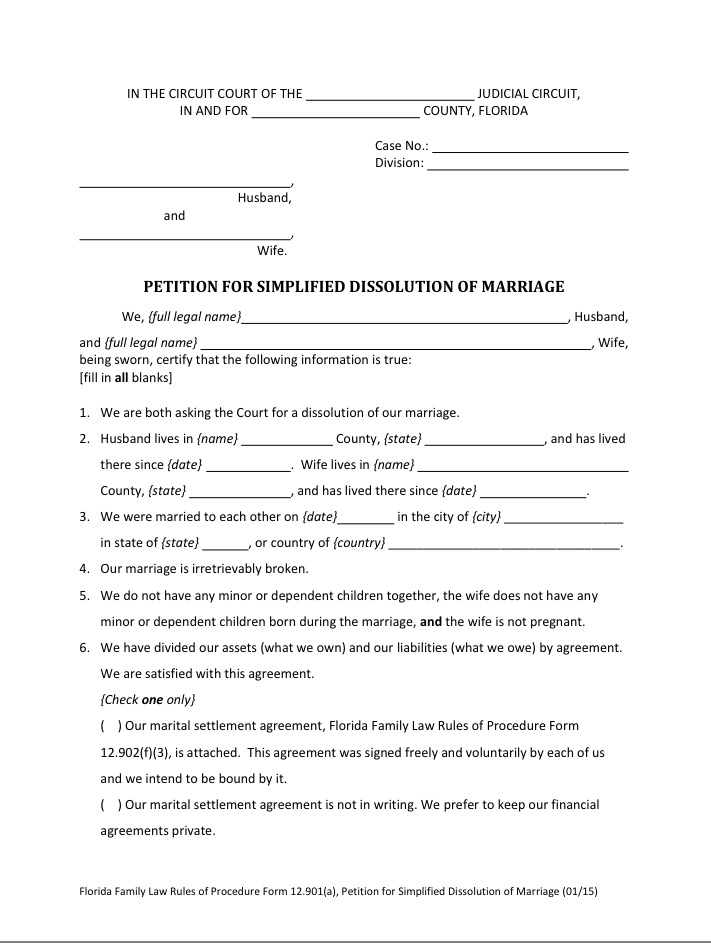 Petitions for simplified dissolution of marriage broward mobile notary platinumwayz