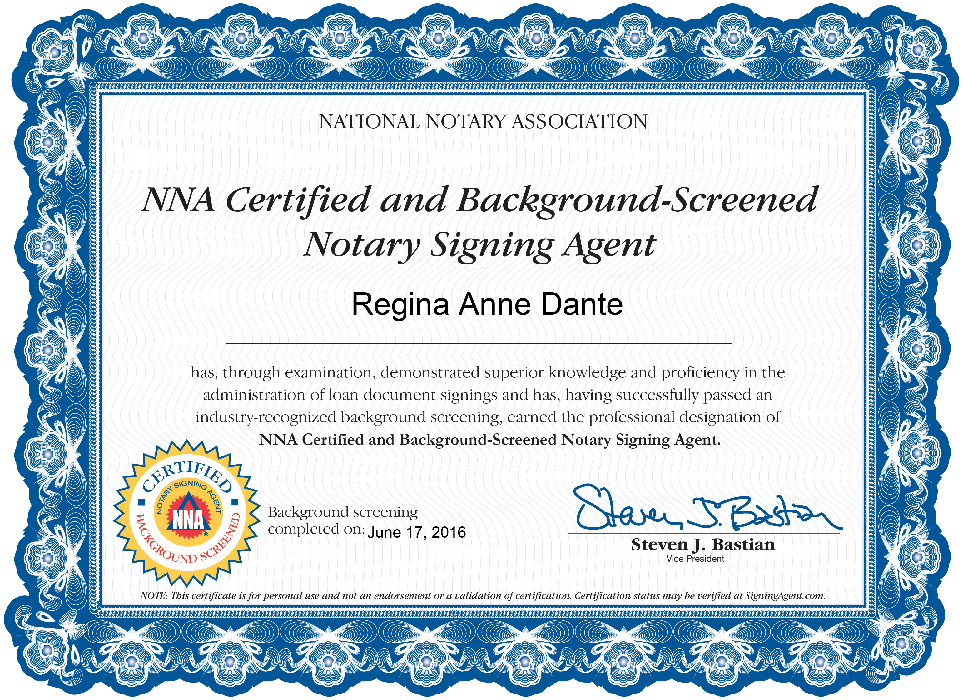 Notary Signing Agent available on call in Broward county